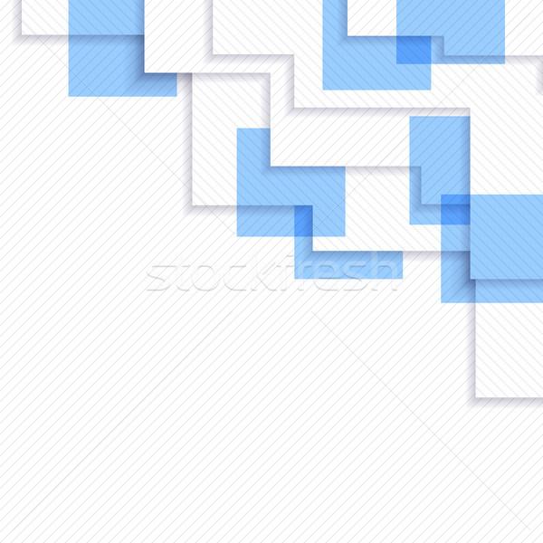 Résumé illustration bleu grille design Photo stock © christopherhall