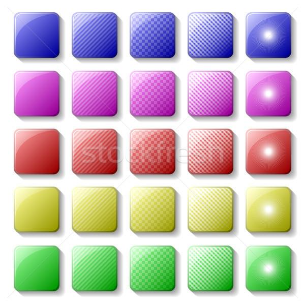 Boutons différent bouton dessins couleurs Photo stock © christopherhall