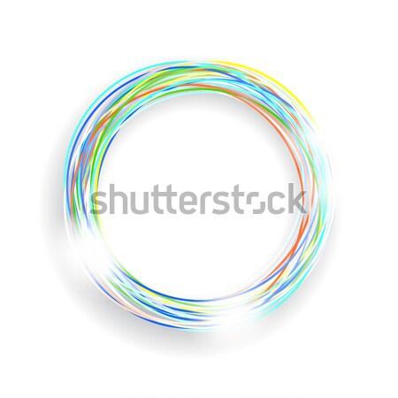 Cercle cadre design eps10 format utilisé Photo stock © christopherhall