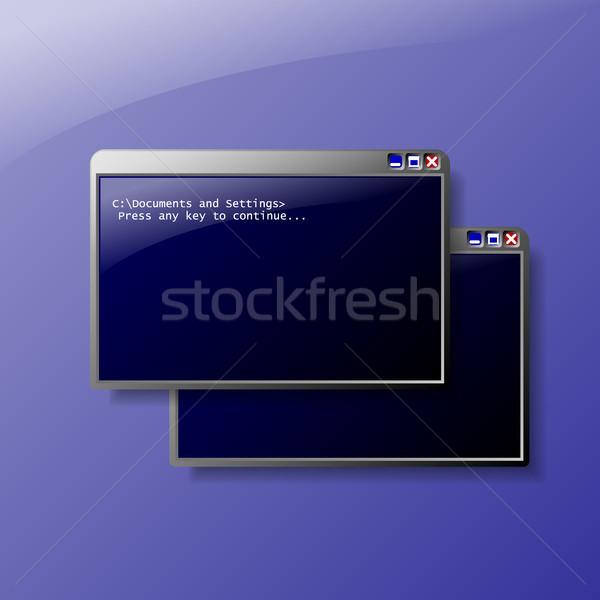 Ordinateur fenêtre illustration fenêtres eps10 format Photo stock © christopherhall