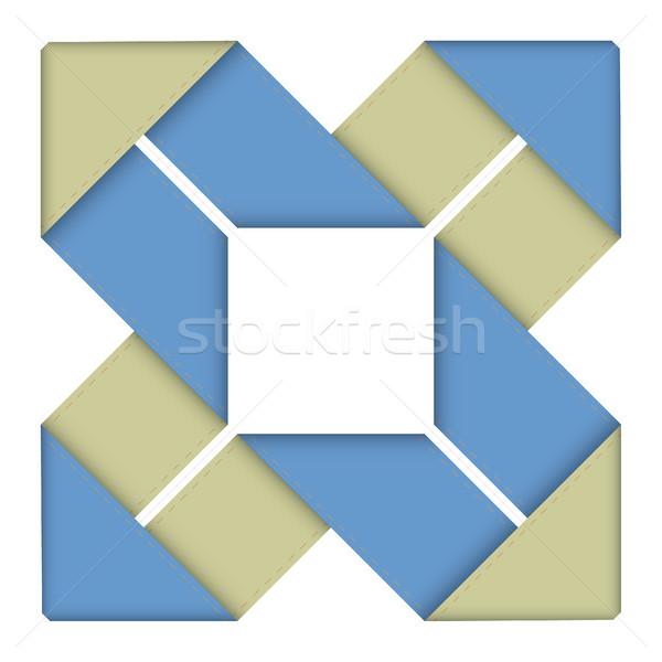 Bannière dessins eps10 format utilisé bleu Photo stock © christopherhall