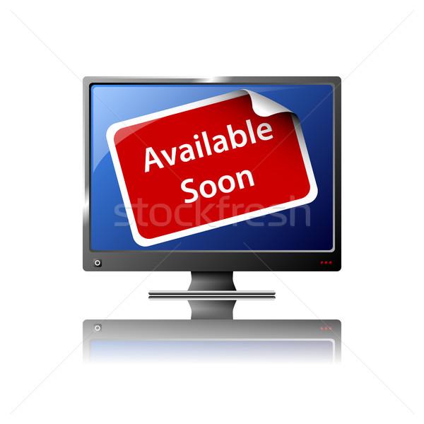 Télévision écran design eps10 format utilisé Photo stock © christopherhall