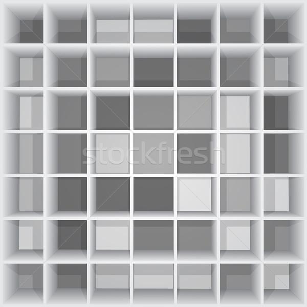 Résumé carré design fond boîte Photo stock © christopherhall