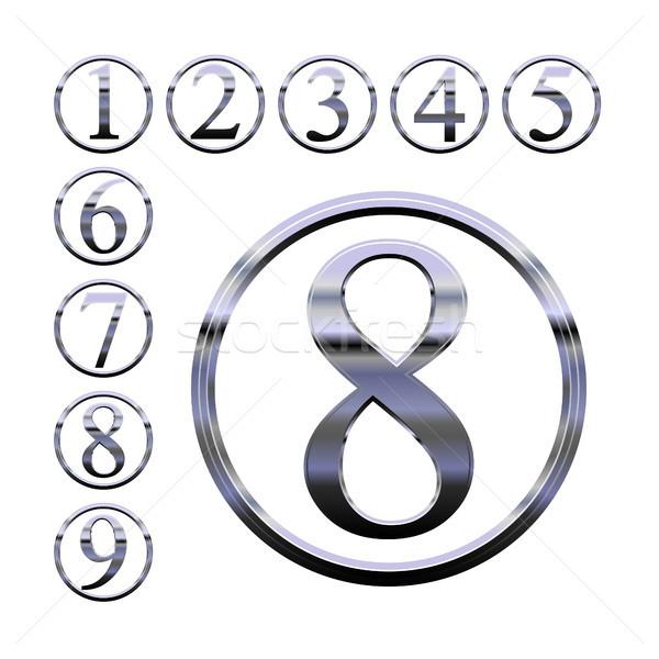 Argent nombre eps10 format utilisé Photo stock © christopherhall