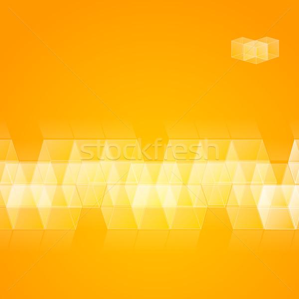 Cubes cube design résumé technologie fond Photo stock © christopherhall