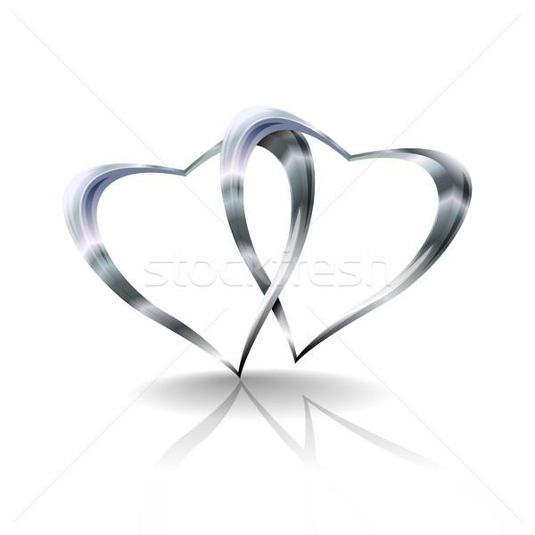 Silver Hearts Stock photo © christopherhall