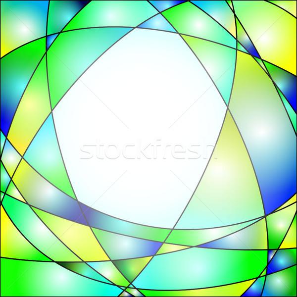 Vitraux illustration fenêtre résumé lumière verre Photo stock © christopherhall