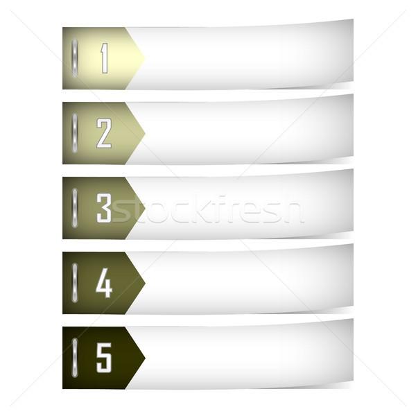 Bannière bannières eps10 format utilisé Photo stock © christopherhall