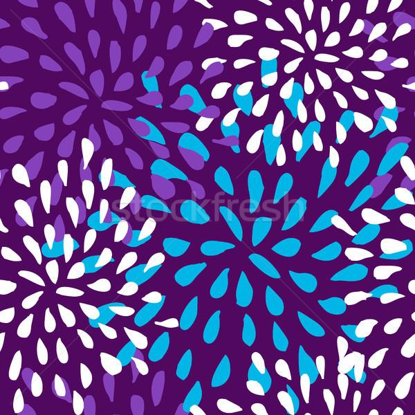 seamless flower pattern Stock photo © cienpies