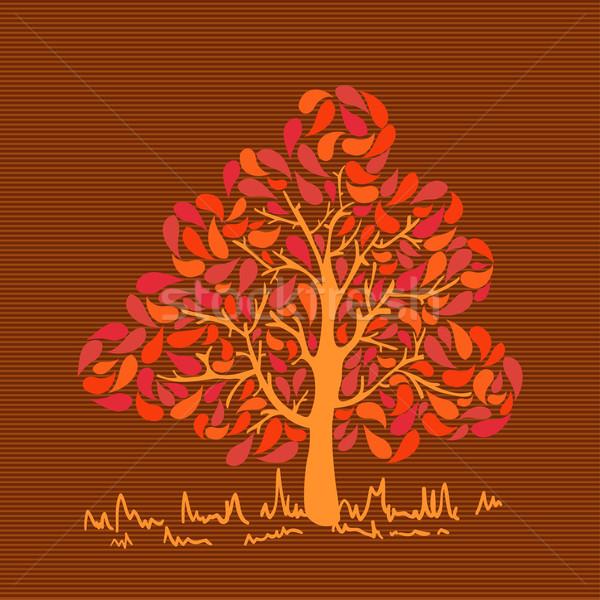 Vintage colores hojas árbol colorido otono Foto stock © cienpies