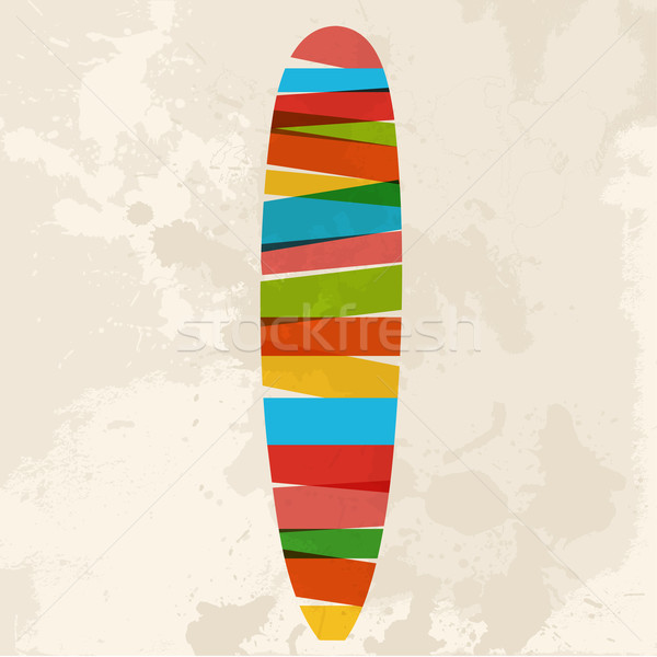 Vintage multicolor surfing Stock photo © cienpies