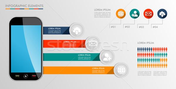 Komórkowych schemat ikona ilustracja Zdjęcia stock © cienpies