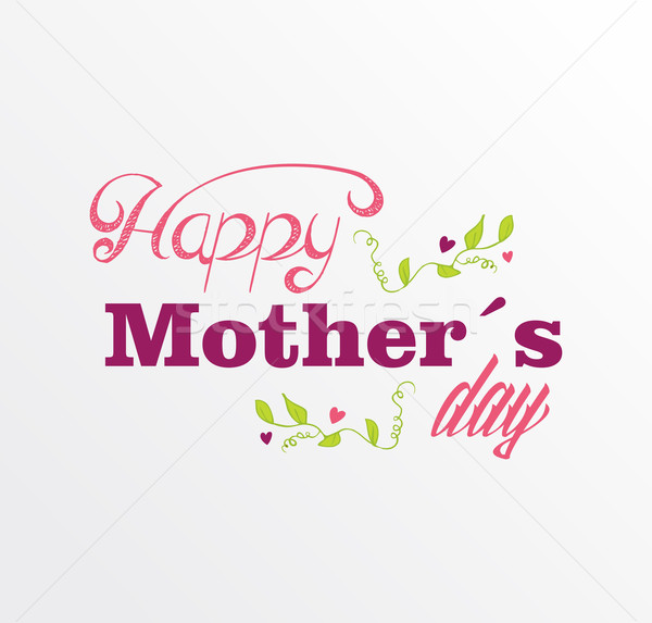 Vintage Happy Mothers day postcard Stock photo © cienpies