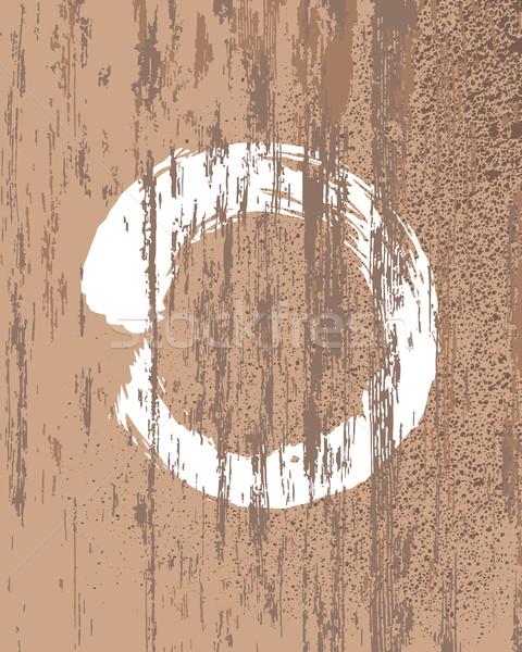 Zen budismo símbolo textura de madera círculo silueta Foto stock © cienpies