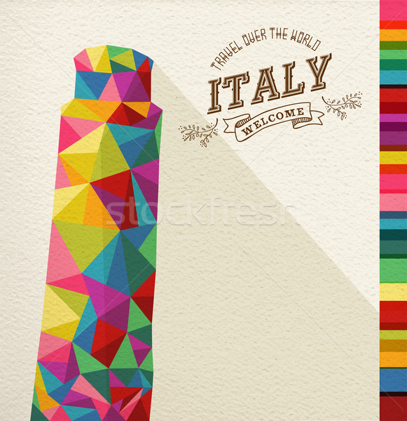 Travel Italy landmark polygonal monument Stock photo © cienpies