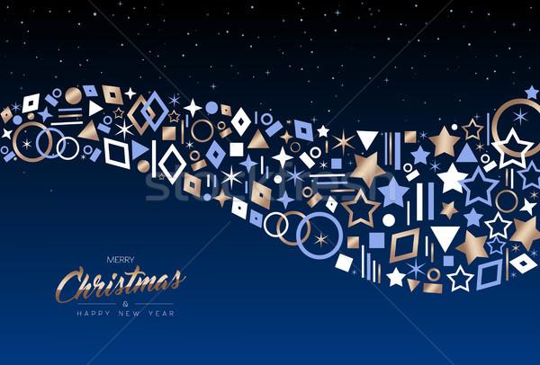 Natale capodanno rame vacanze icona carta Foto d'archivio © cienpies