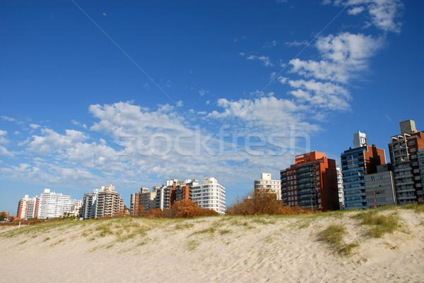 Edificios duna playa panorama Montevideo Uruguay Foto stock © cienpies