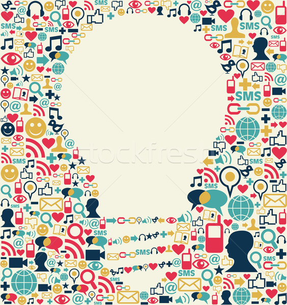 Social media idea texture Stock photo © cienpies
