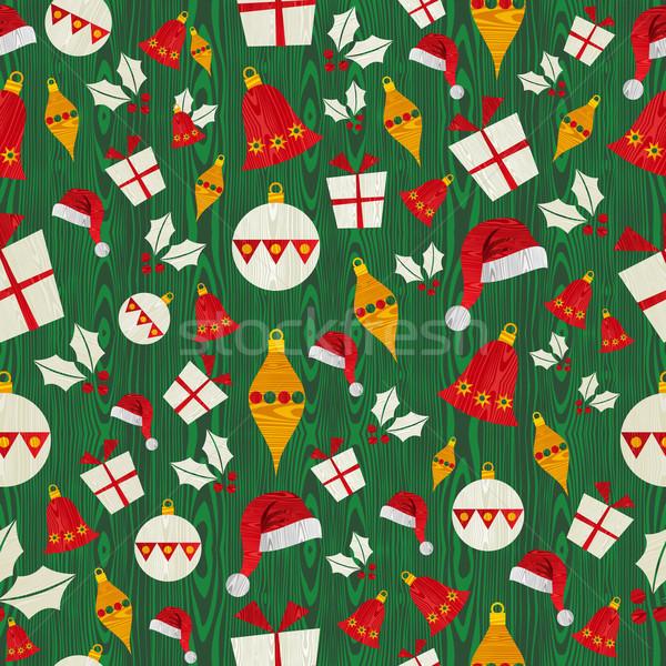 Foto stock: Navidad · iconos · patrón · forma