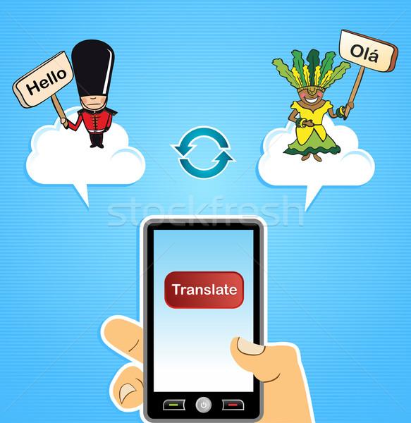 翻訳 グローバル インターネット 英語 アプリ ストックフォト © cienpies