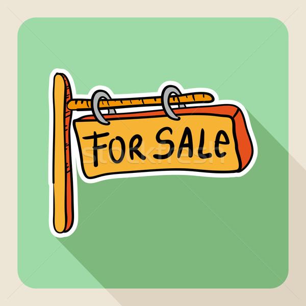 Kézzel rajzolt ingatlan vásár felirat rajz stílus Stock fotó © cienpies