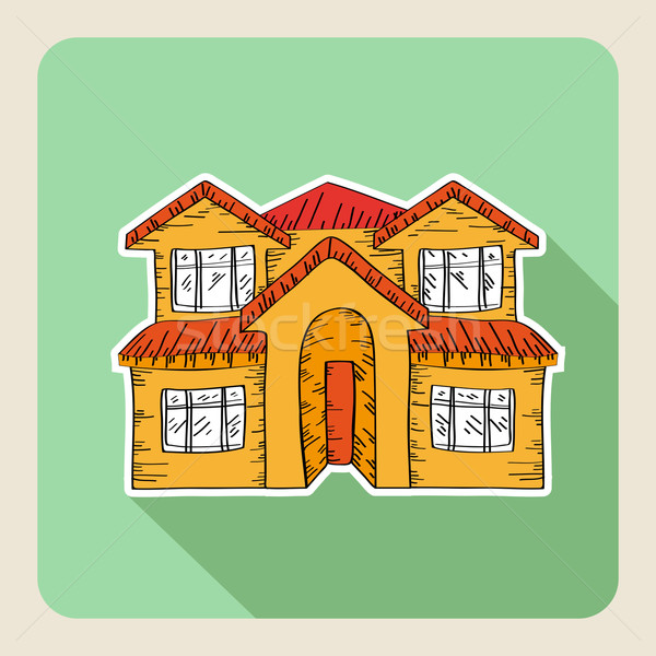 Hand drawn real estate family house  Stock photo © cienpies
