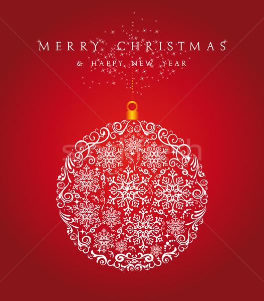 Neşeli Noel önemsiz şey eps10 vektör dosya Stok fotoğraf © cienpies