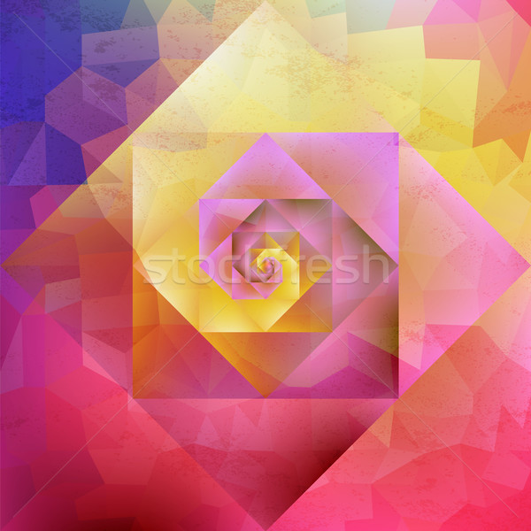 Trillend vintage kunst geometrisch patroon kleurrijk Stockfoto © cienpies