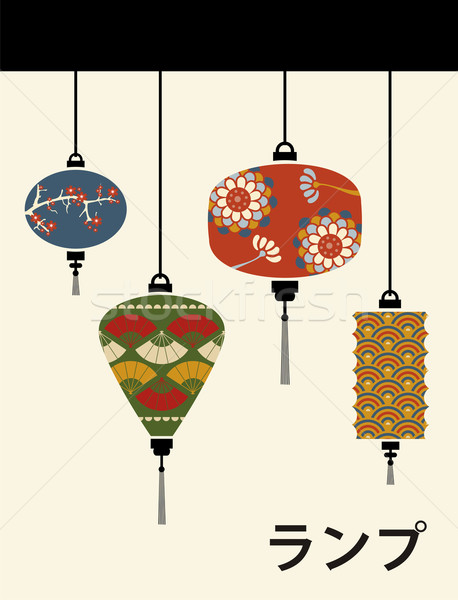 Japan lamps background Stock photo © cienpies