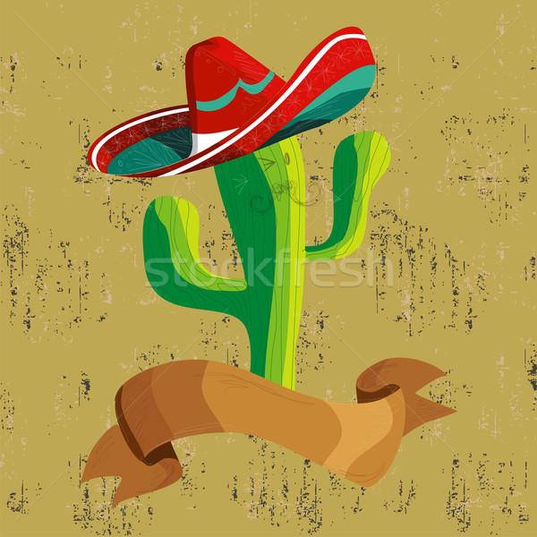 ストックフォト: メキシコ料理 · サボテン · バナー · メキシコ料理 · 面白い