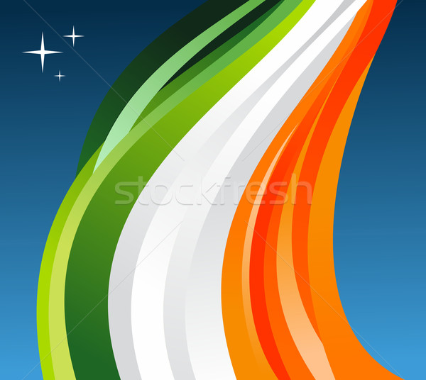 Ireland flag illustration Stock photo © cienpies