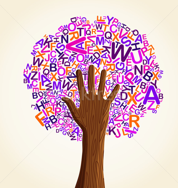 Learn to read at school education concept tree Stock photo © cienpies