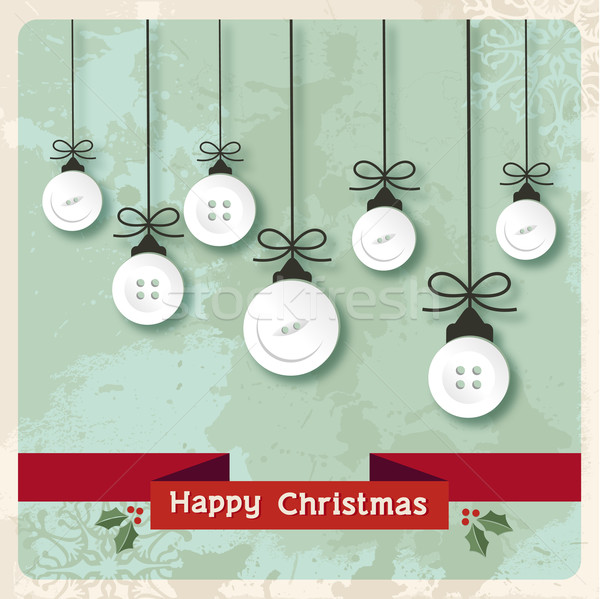 Vintage Christmas baubles buttons Stock photo © cienpies