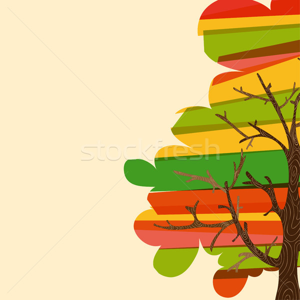 Multicolor tree background Stock photo © cienpies