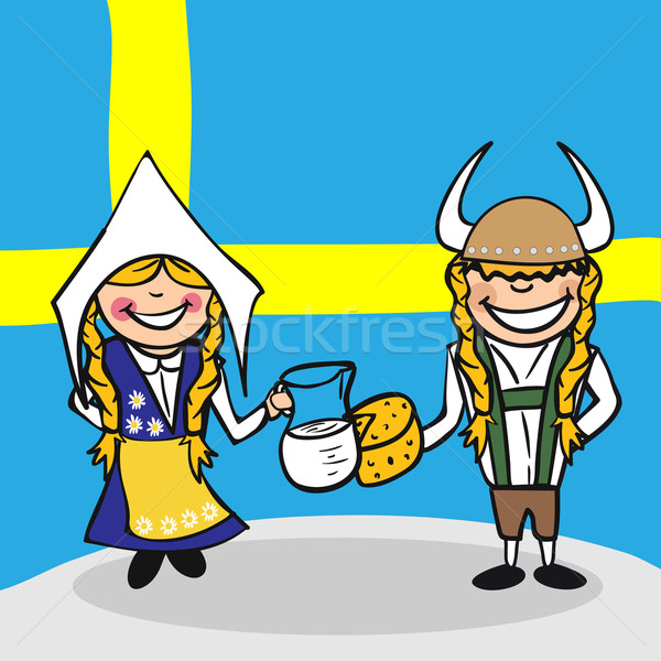 Welcome to Sweden people Stock photo © cienpies