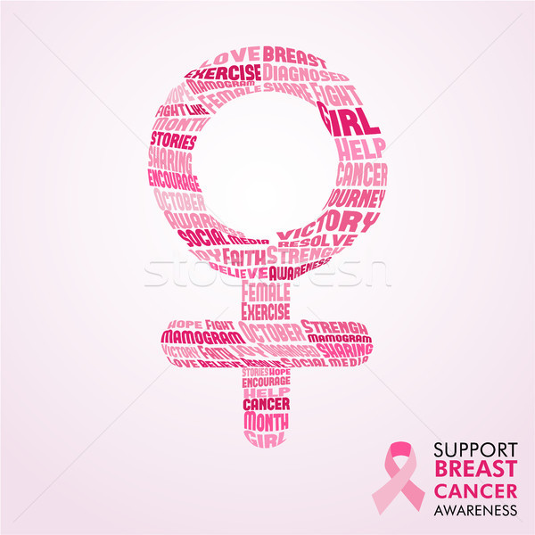 Breast Cancer Awareness Month pink female sign   Stock photo © cienpies