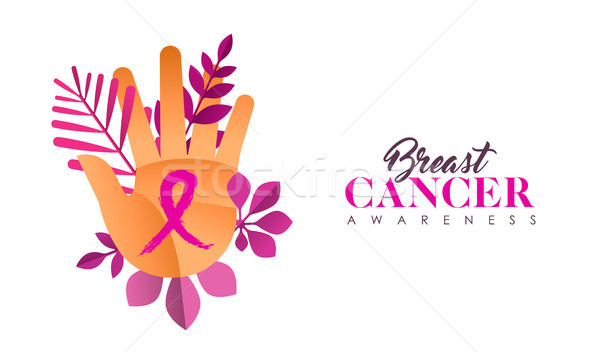 Breast Cancer Care hand concept for women help Stock photo © cienpies