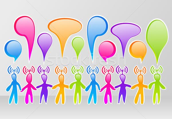 ソーシャルメディア コミュニティ カラフル ネットワーク インターネット ストックフォト © cienpies