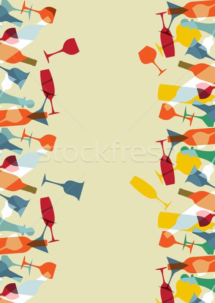 カクテル メニュー デザイン カラフル 透明な ストックフォト © cienpies