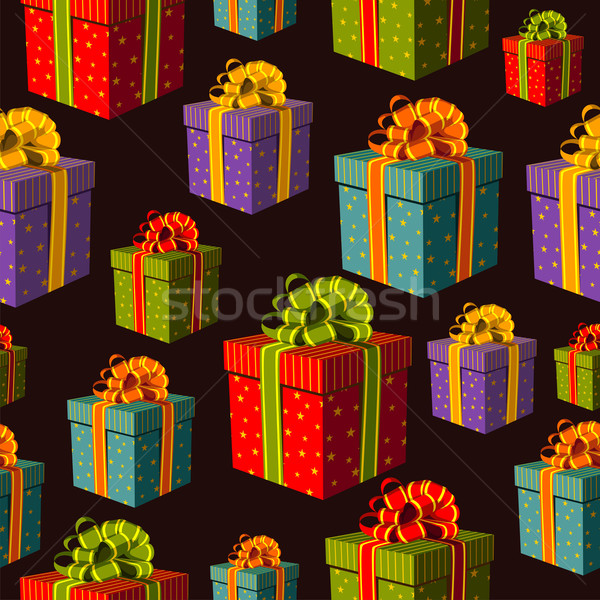 Stock photo: Colorful group of gift boxes pattern