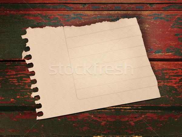 Vintage papier nota grunge hout houten Stockfoto © cienpies