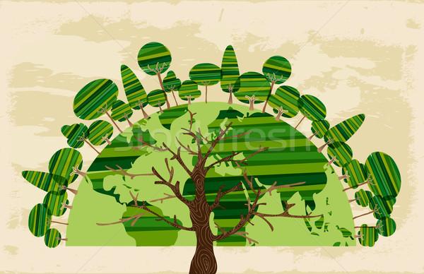 Tree world of trees concept Stock photo © cienpies