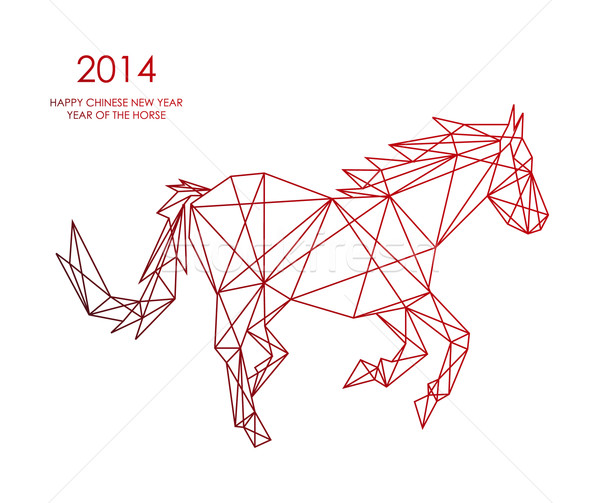 Chinese new year of the Horse triangle web shape file. Stock photo © cienpies