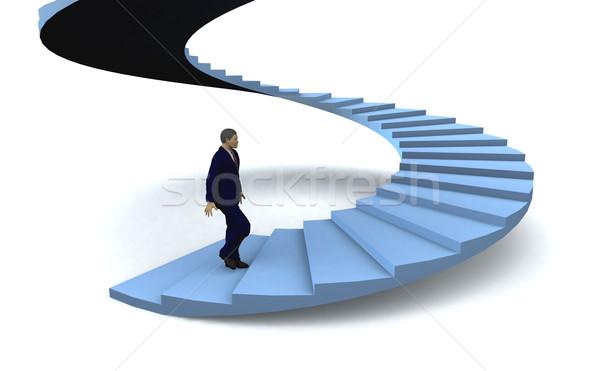 男 階段 成功 ビジネスマン 徒歩 2階 ストックフォト © cienpies