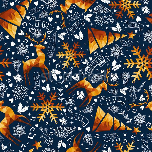 Рождества золото низкий роскошь веселый Сток-фото © cienpies