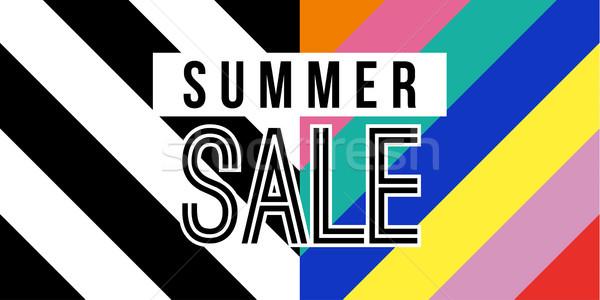 Nyár vásár háló szalag színes retró stílus Stock fotó © cienpies