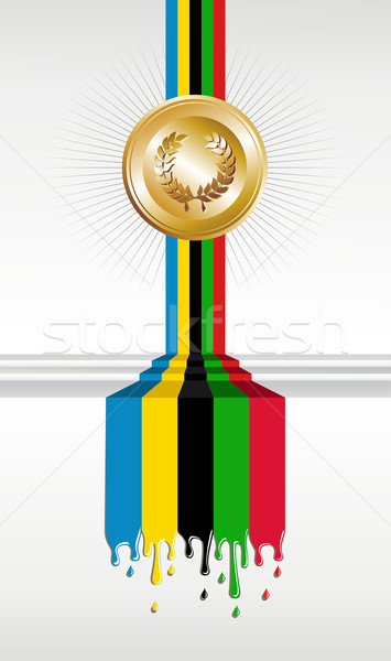 Olympic games gold medal banner Stock photo © cienpies