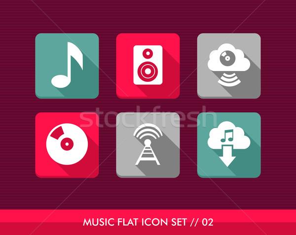 музыку красочный веб приложения Сток-фото © cienpies