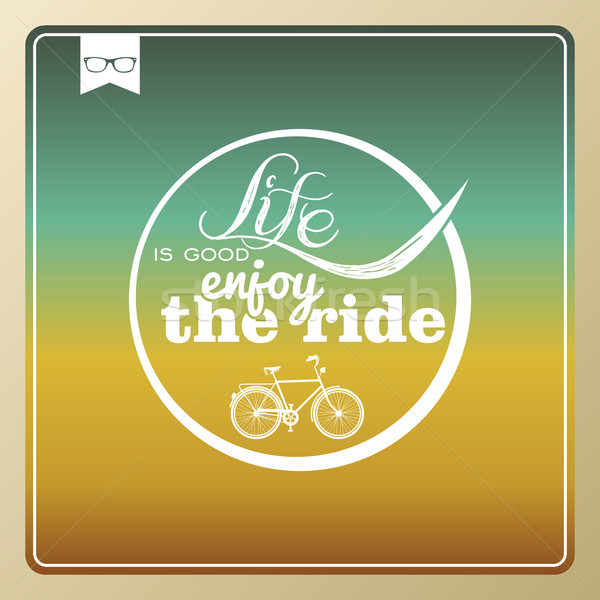 Vintage life style bike poster. Stock photo © cienpies