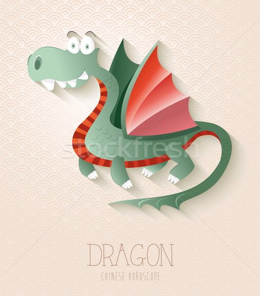 Chinese zodiac set Year of the Dragon Stock photo © cienpies